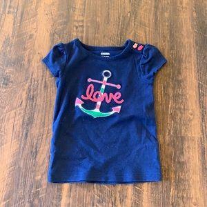 Gymboree | Anchor Love Shirt W/ Fish Buttons ⚓️🐠